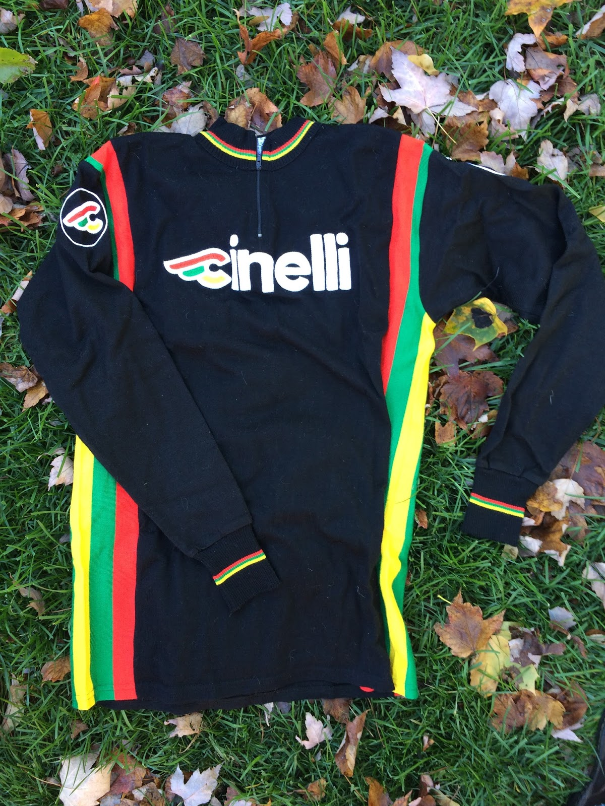 I love the look of this Giordana long-sleeve wool jersey with the Cinelli  logo embroidered into it. 4e7a4ea1d