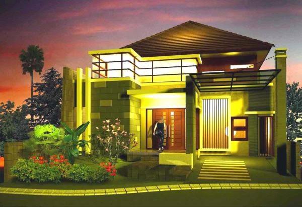Contoh rumah minimalis ala korea dilihat saat malam