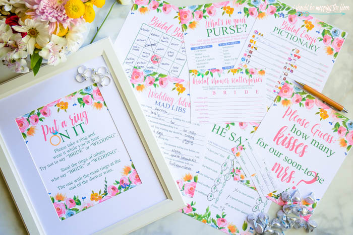 photo about Bridal Shower Purse Game Free Printable known as Absolutely free Printable Bridal Shower Online games i really should be mopping the