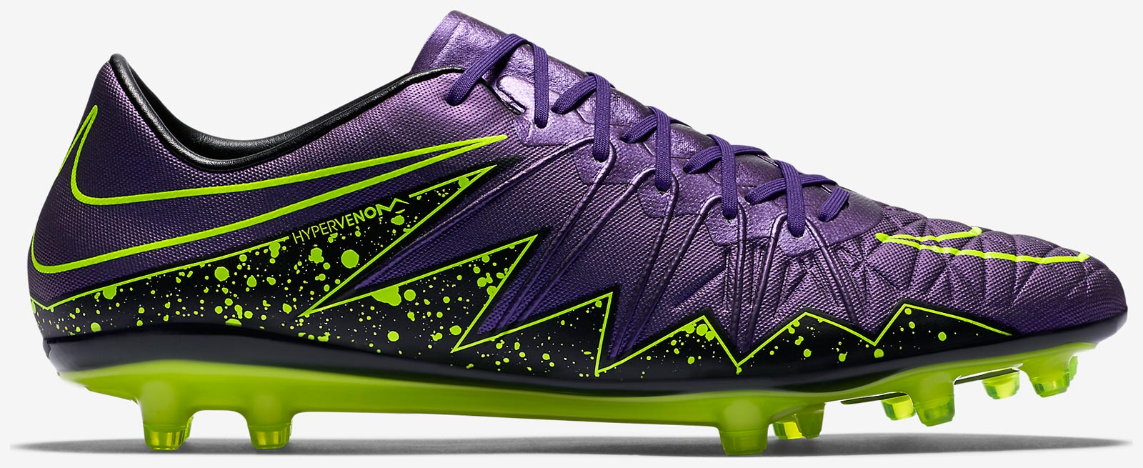 Neymars New Hypervenom Cleats Purple And Green