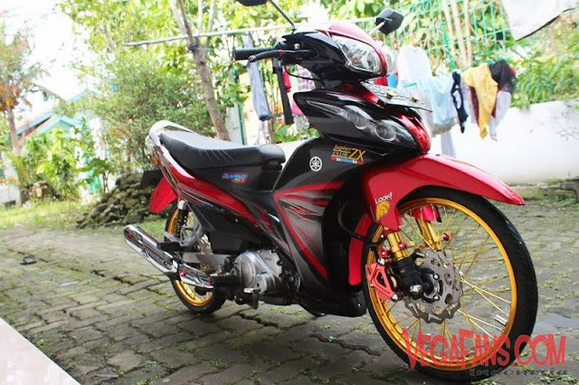 Jupiter Z New Merah Modif Simple Ban Cacing