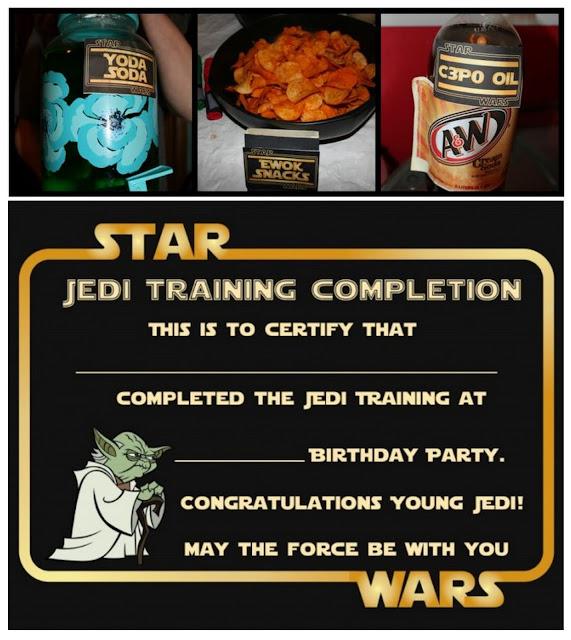 Fiesta de Star Wars: Etiquetas para Comida y Certificados para Imprimir Gratis.