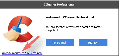 Activate CCleaner Professional Eddition