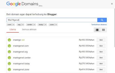 Pengalaman dan Cara Beli Domain TLD di Google Domain - Mari Ngenet
