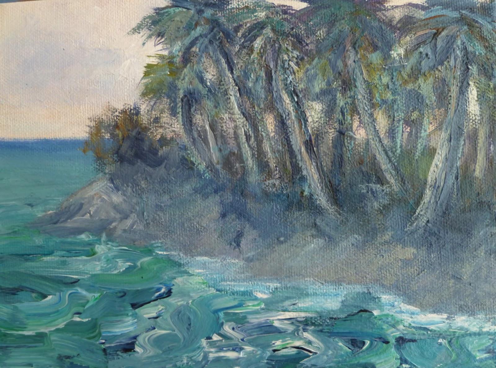 Monet Style Beach Painting Amber Palomares Fine Art
