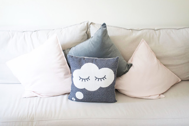 Zoella, Zoella Lifestyle, cloud cushion, grey, pink, sofa bed, nursery tour