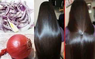وصفة البصل للشعر وحل جميع مشاكل الشعر