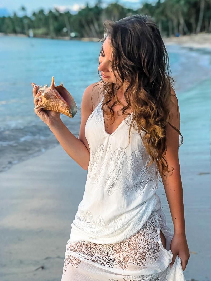 aniamaluje blog gwadelupa,, biała sukienka, white maxi dress