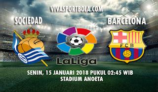 Prediksi Real Sociedad vs Barcelona 15 Januari 2018