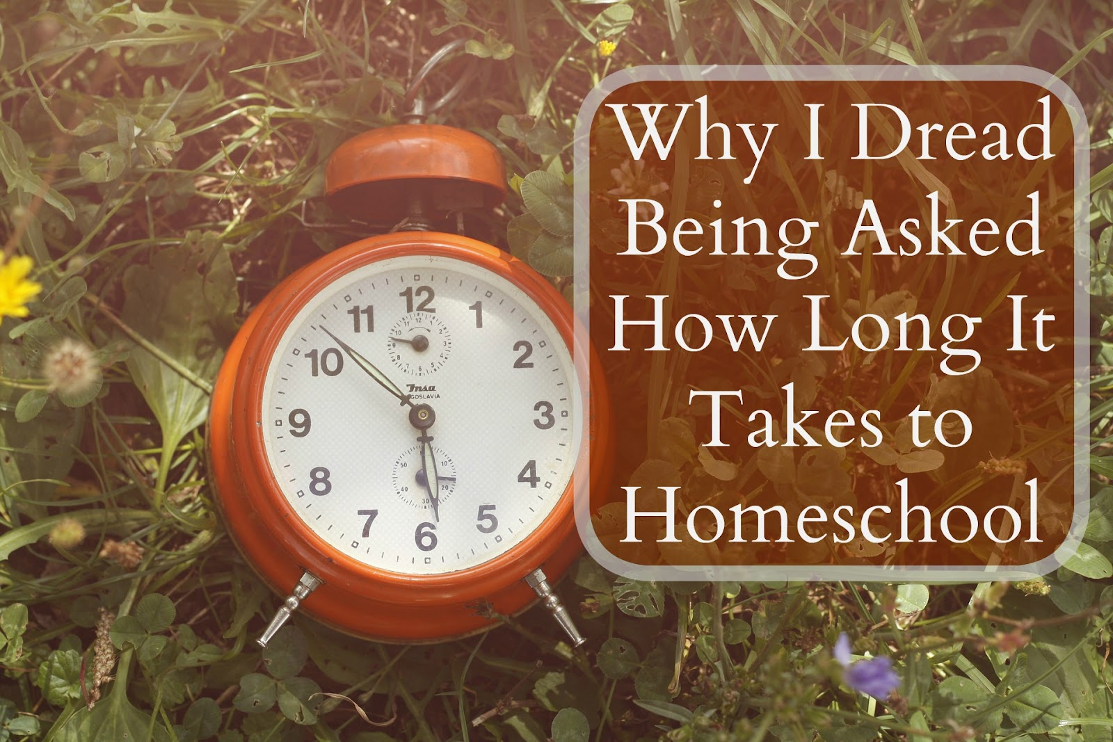 """It may sound silly but I really dread answering the question """"so how long does homeschooling take?"""""""