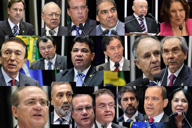 Decore o nome e a cara dos 19 senadores que mudaram o voto no impeachment salvando Dilma (e Cunha)