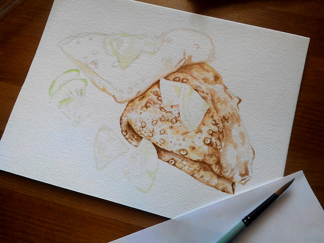 food illustration in watercolor