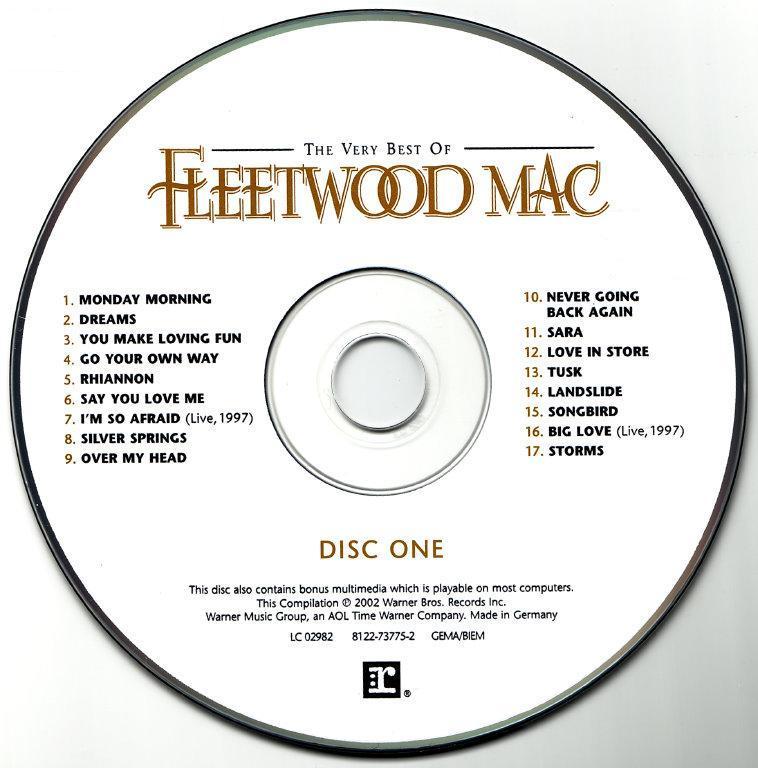 The Very Best Of Fleetwood Mac Remastered Fleetwood Mac: DISCO/FUNK (DJ RAS EL SEÑOR DE LOS VINILOS) LA