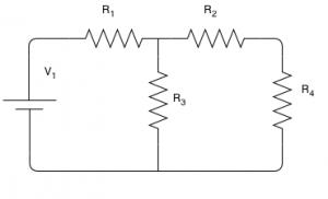 Description: résoudre en utilisant la règle de division de tension
