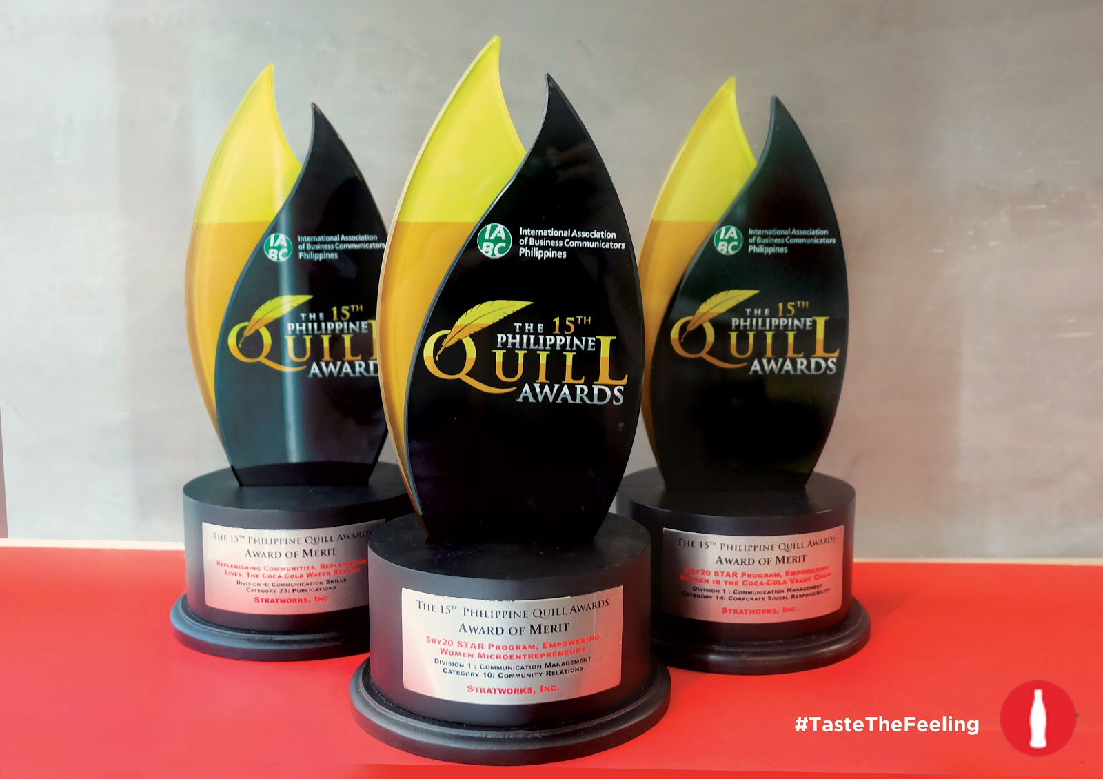 FTW! Blog - 15th Philippine Quill Awards, #FTWBlog, #PhilippineQuillAwards, #Tastethefeeling #Cocacola #zhequiaDOTcom, www.zhequia.com
