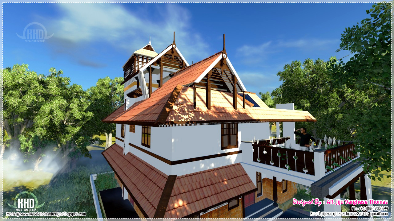 Kerala traditional home in 2000 square feet kerala home - Traditional home plans and designs ...
