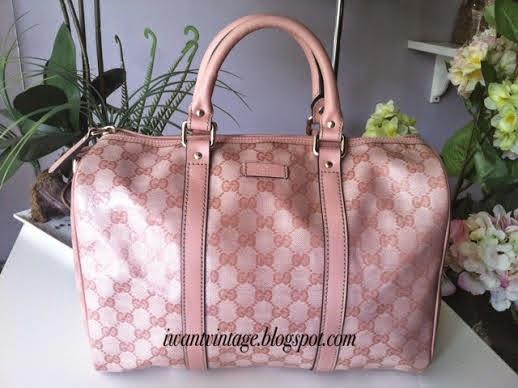 bb81595795ef I Want Vintage   Vintage Designer Handbags: Gucci Joy Guccissima ...