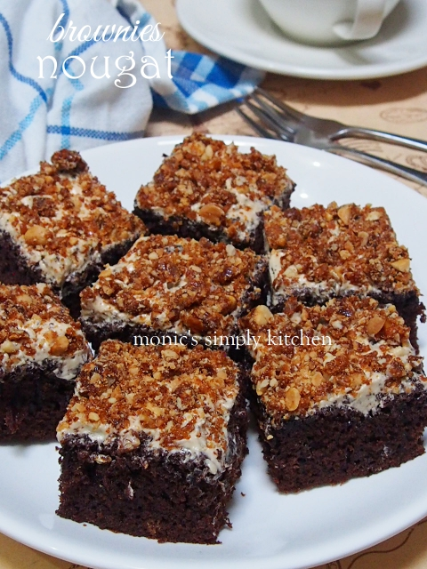 resep brownies nougat