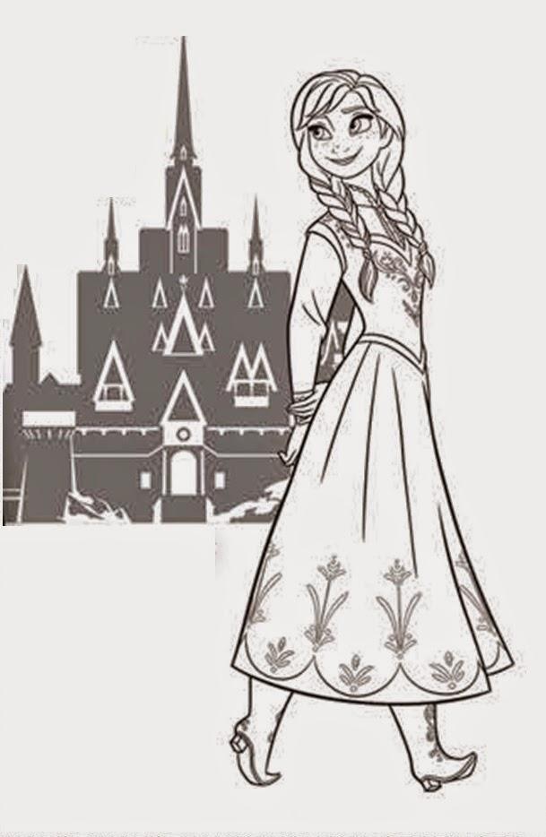 Coloring Pages Frozen Castle Coloring