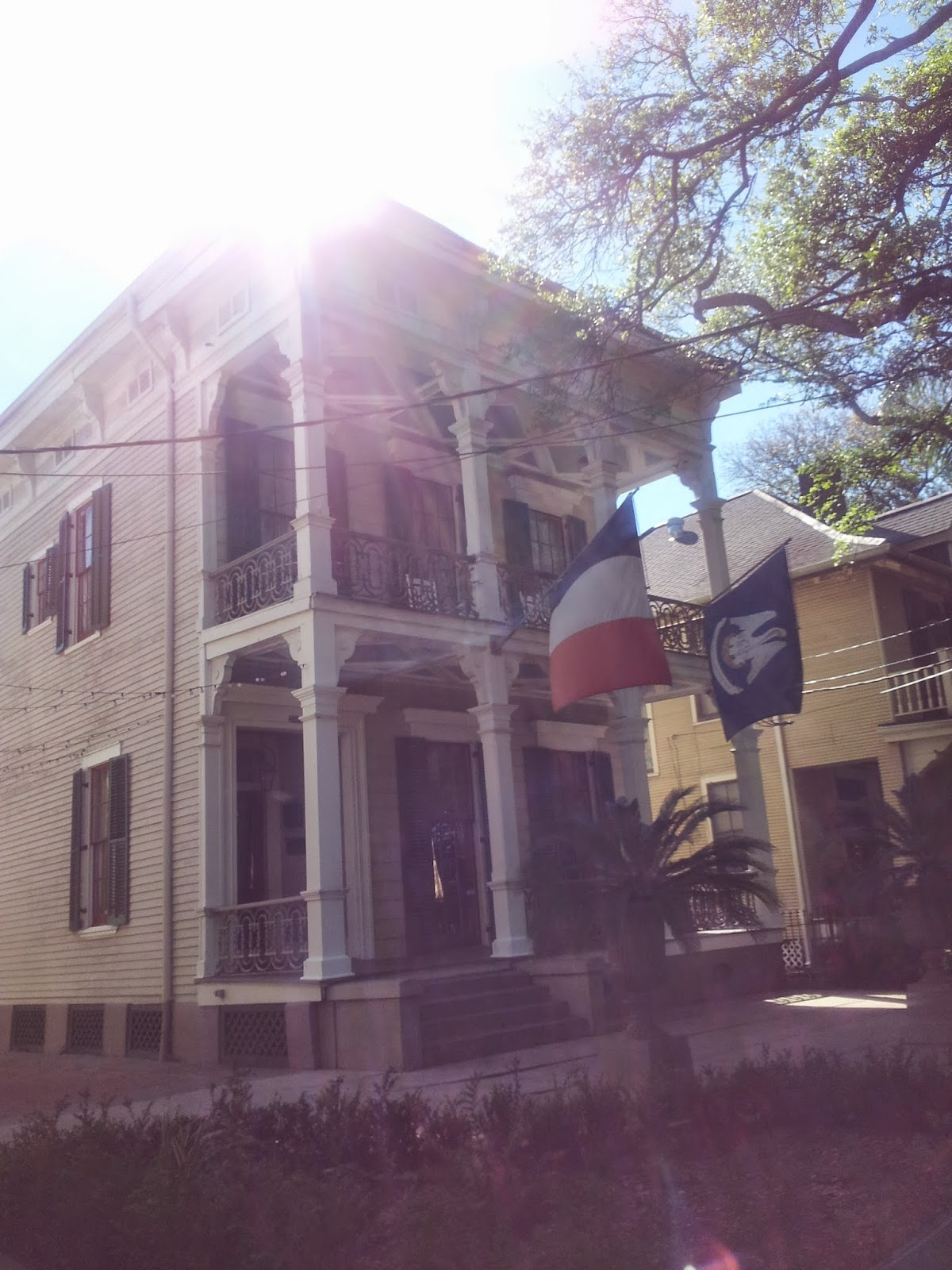 Edgar Degas House, New Orleans, sun streaming