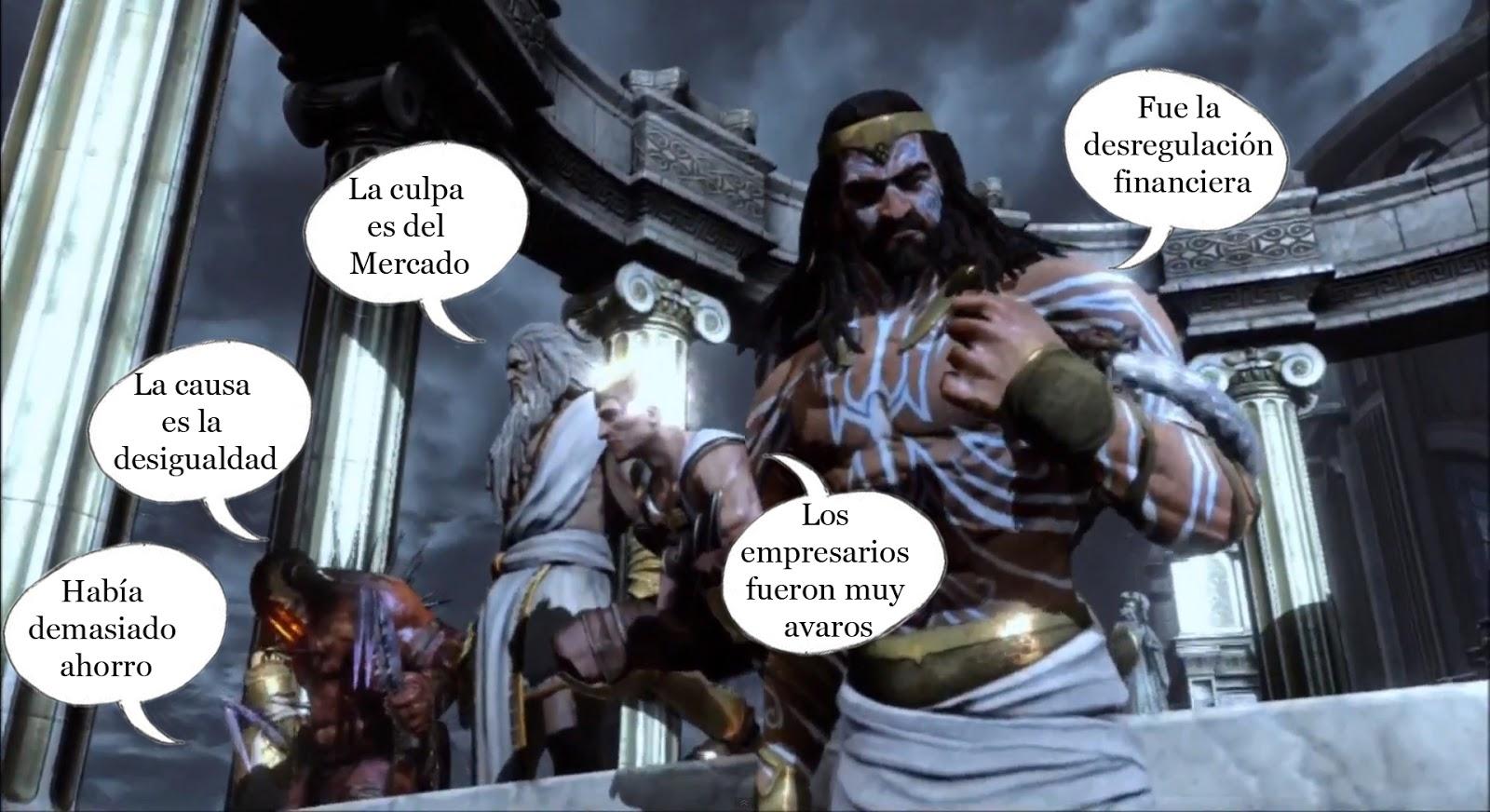 Econo m a y tuya mitos sobre la crisis for God of war 3 jardines del olimpo