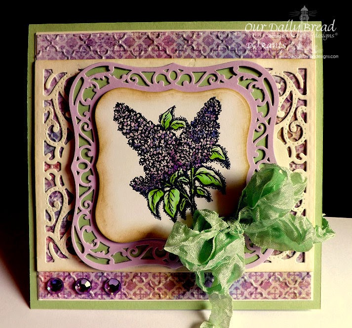 Our Daily Bread Designs, Lilac, vintage Flourish Pattern, Christian Faith Paper collection