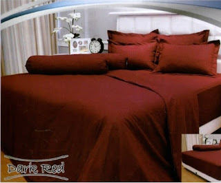 sprei vallery dark red