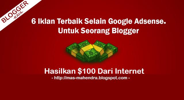 6 Iklan Alternatif Terbaik Selain Google Adsense Indonesia 2016
