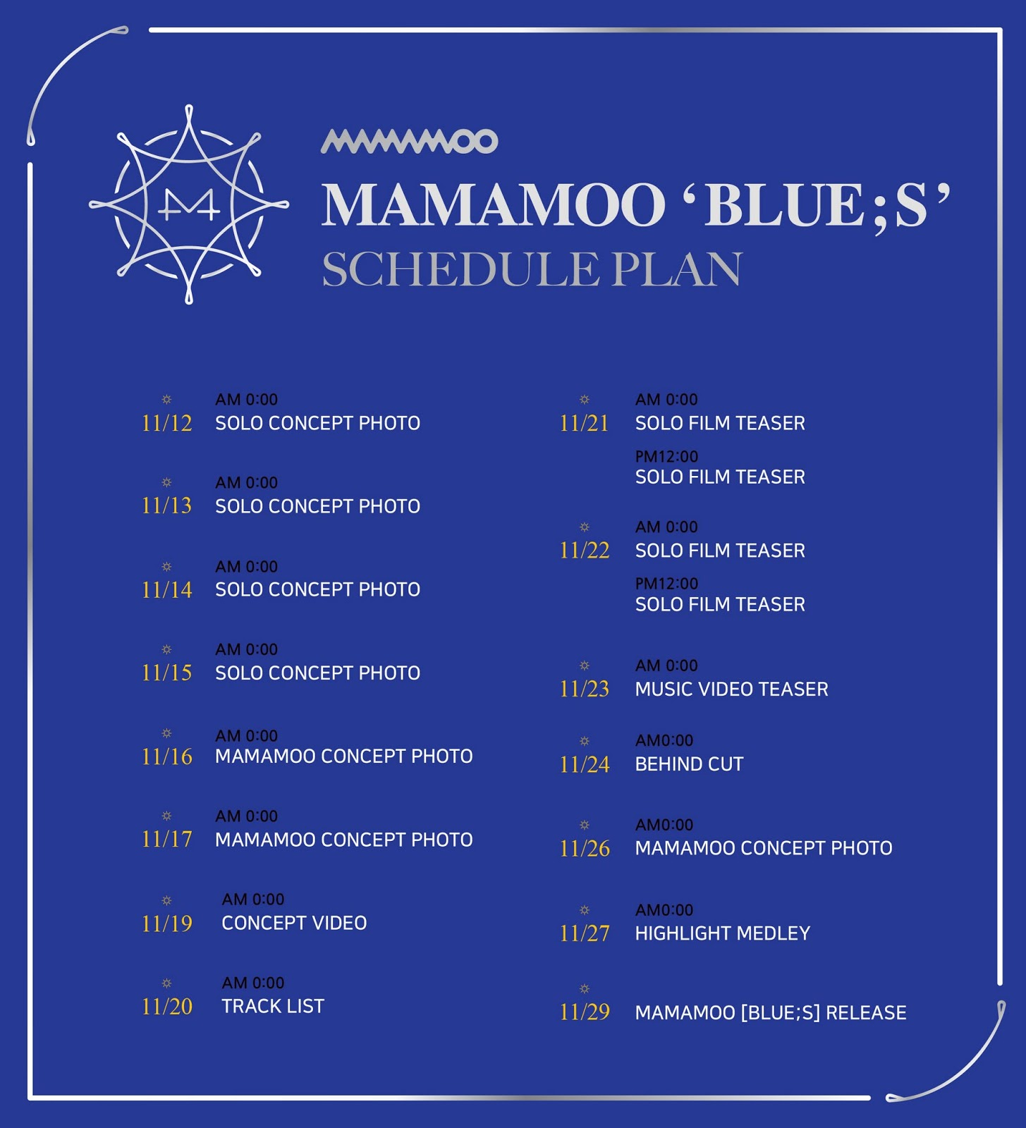 MAMAMOO Shares Schedule Plan For Their Upcoming Comeback