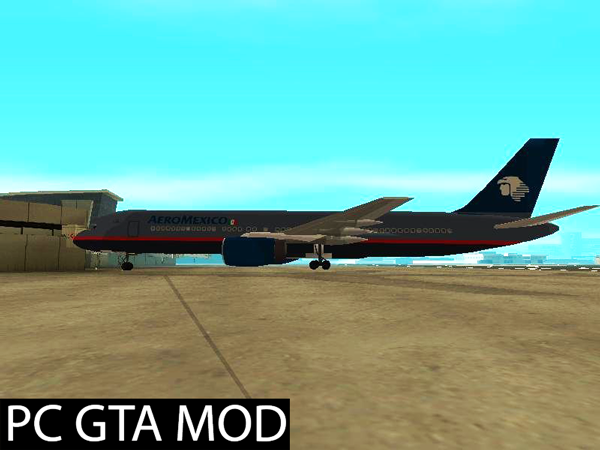Free Download  Boeing 757-200 Aeromexico Old Mod for GTA San Andreas.