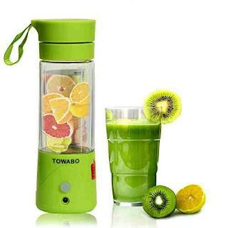 Towabo Blender: USB Rechargeable Fruit Juice Mixer - Portable Kitchen Blending Machine