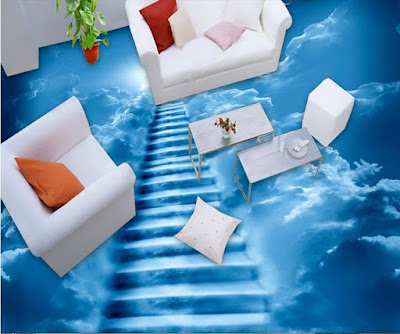 3D floor murals with epoxy floor painting