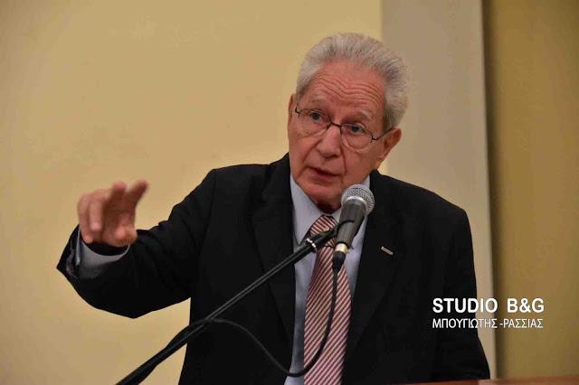 Με ενδιαφέρον η ομιλία του Βάλτερ Πούχνερ στο Ναύπλιο