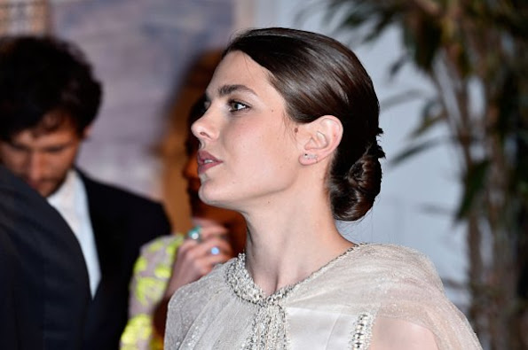 "Charlotte Casiraghi and Princess Alexandra of Hanover attend The 62nd Rose Ball (""Bal de la Rose"" in French) to Benefit The Princess Grace Foundation at Sporting Monte-Carlo"
