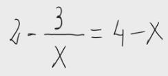 41. Ecuación con x en denominador