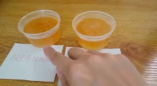 pregnancy test with urine