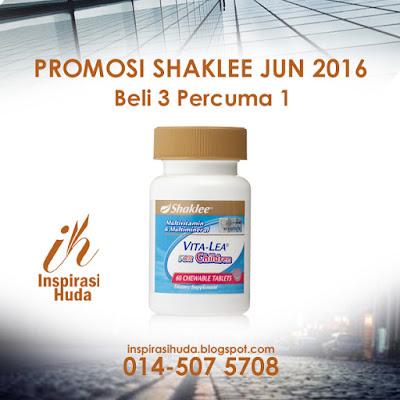 promosi, shaklee, jun 2016, vitalea for children, ramadhan, puasa, vitamin, suplemen, buasir, sembelit, penghadaman,