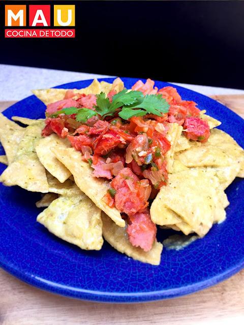 chilaquiles verdes cuaresma machaca de marlin atun ahumado pescado receta facil