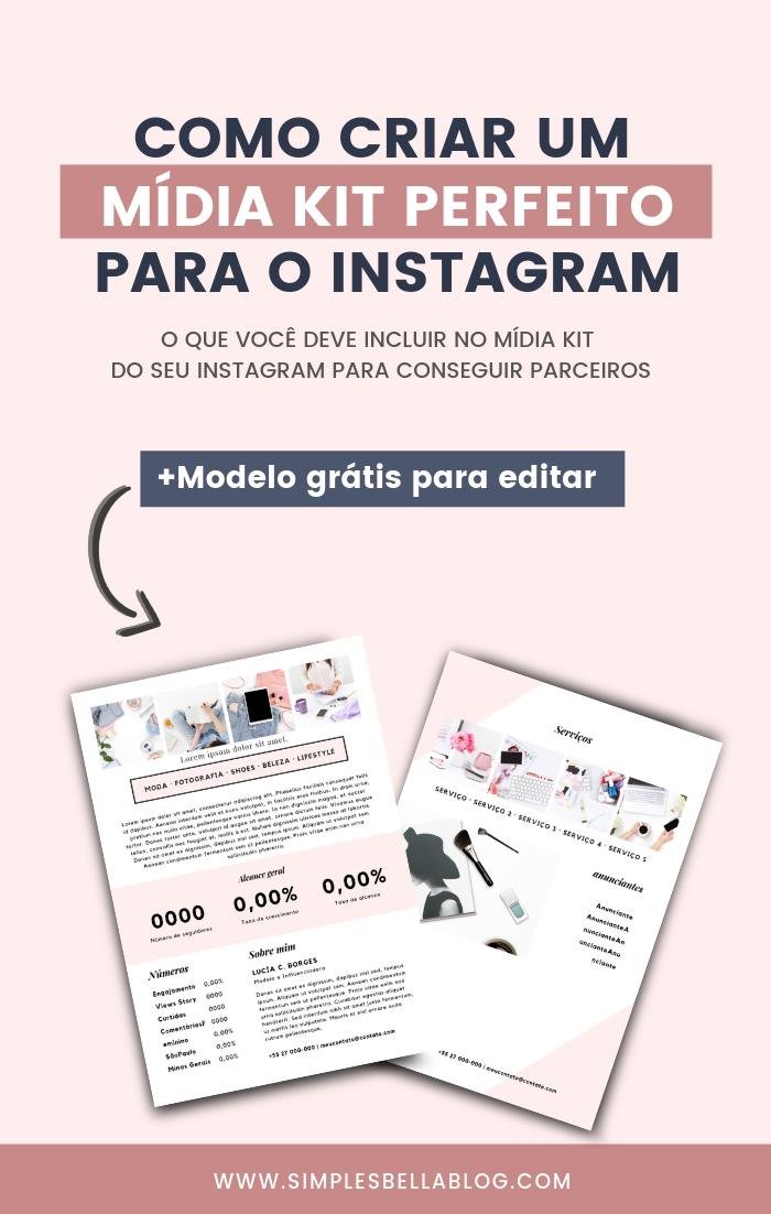 Mídia Kit Instagram Template