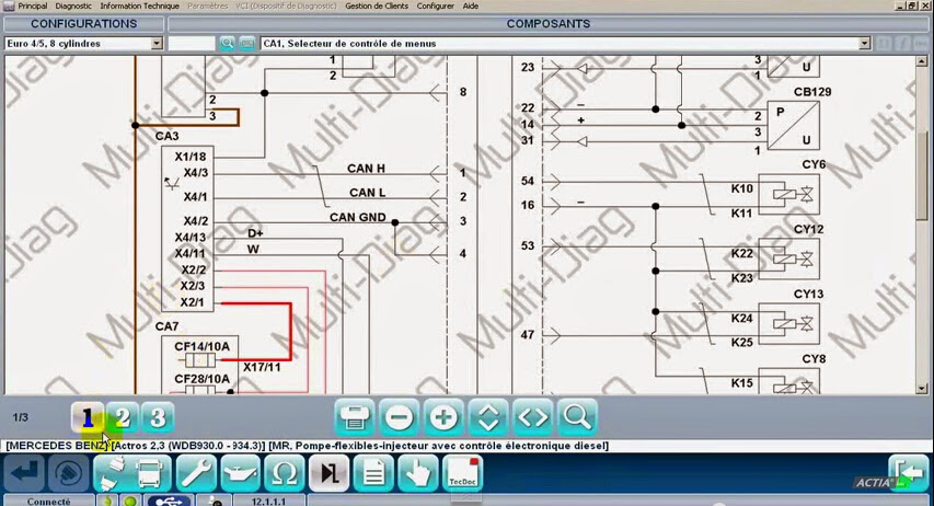 Read vehicle wiring diagrams with Multidiag J2534 PassThru