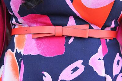 Kate Spade Orange Bow Belt Outfit