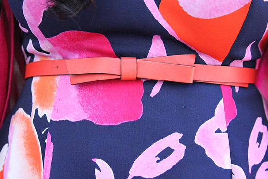 Kate Spade Orange Bow Belt Outfit