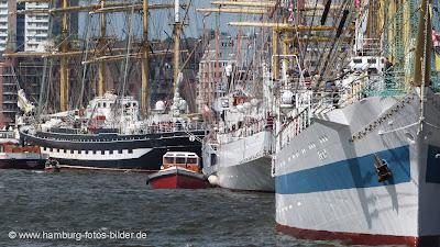 Hafengeburtstag Hamburg, Segelschiffe, Windjammer, MIR, Dar Mlodziezy, Krusenstern