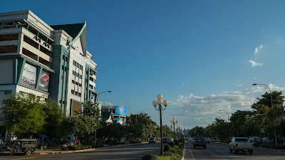 Lane Xang Ave in Vientiane
