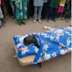 Commotion as Man was buried with bed instead of a coffin. (Photos)