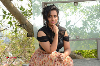 Actress Chetana Uttej Stills in Floral Long Skirt at Pichiga Nachav Movie Press Meet  0128.JPG