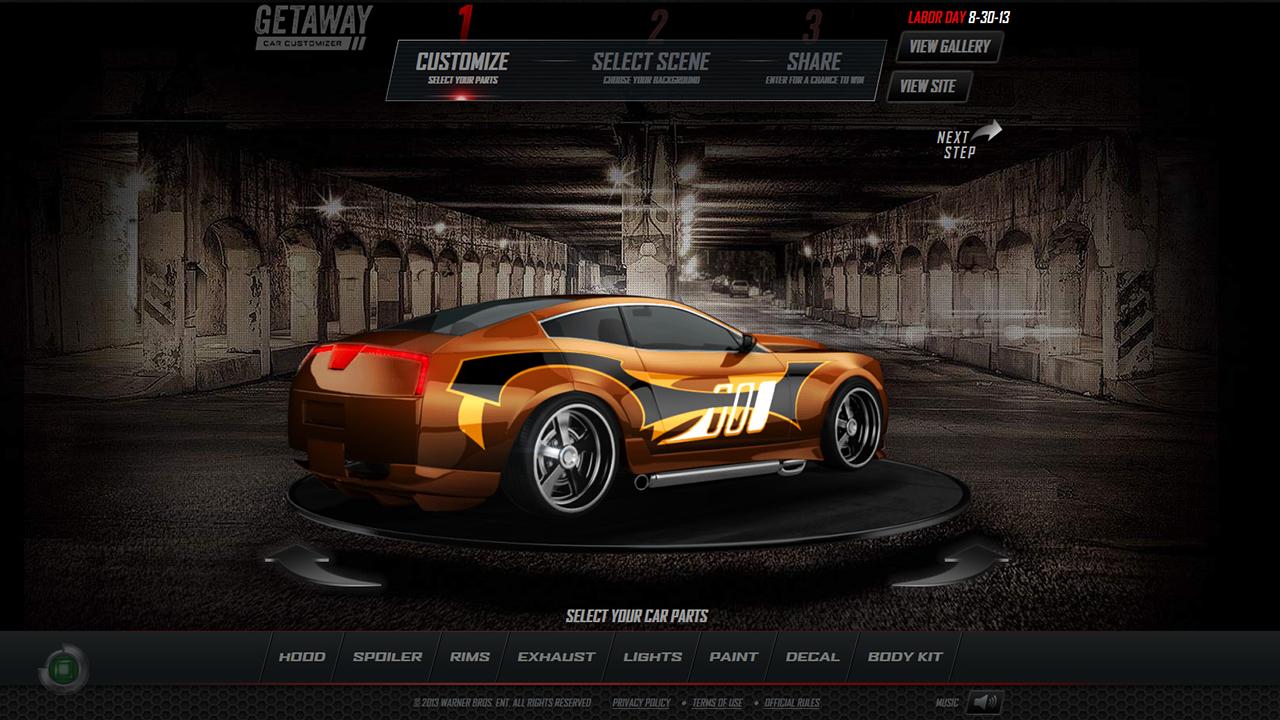 getaway car customizer