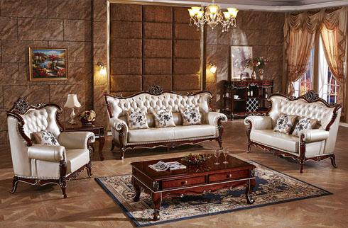 Top 5 bộ sofa phòng khách gỗ sồi tân cổ điển hot nhất 2018