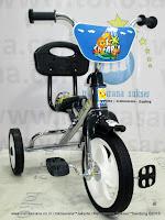 Sepeda Roda Tiga PMB 919 Chrome Pernekel Sandaran