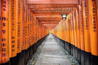 Torri Gates Fushimi-Inari Shrine Japan